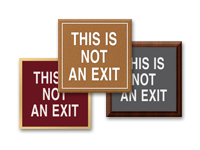 not an exit/no exit signs