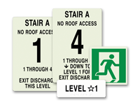 stairway id signs