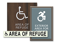 area of refuge signs