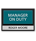 Manager on Duty Signs